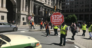 Parking workers in Philadelphia are fed up with their working conditions and took their frustration to some of the businesses they are unhappy with.