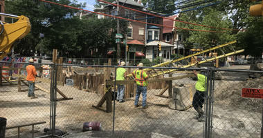 A massive sinkhole that popped up in West Philadelphia a little more than a week ago has grown into a major problem and is causing traffic trouble for folks in the neighborhood.