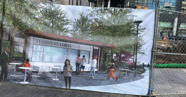 Another Starbucks controversy is brewing, but this time it's because of a kiosk being built in Dilworth Park, outside of City Hall.