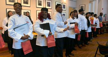 Graduates from Philabundance's Community Kitchen program.