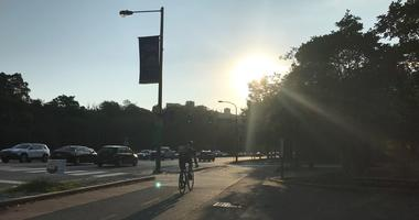 Runners and bikers on Kelly drive are trying to beat the heat -- in October.