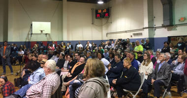 Close to 200 people, many of whom were residents concerned about their safety, packed a community center in Port Richmond to voice concerns about a proposed safe injection site in their community.