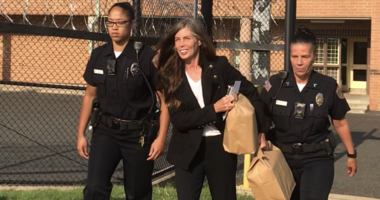 Kathleen Kane leaves the Montgomery County Correctional facility.