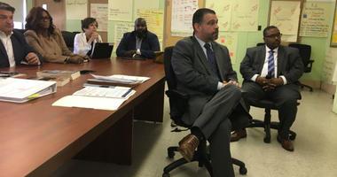 Pedro Rivera, the Pennsylvania secretary of education, visited two Philadelphia elementary schools Wednesday.