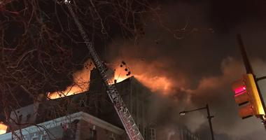 4-alarm fire in Old City.