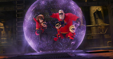 "This image released by Disney Pixar shows a scene from ""Incredibles 2,"" in theaters on June 15."