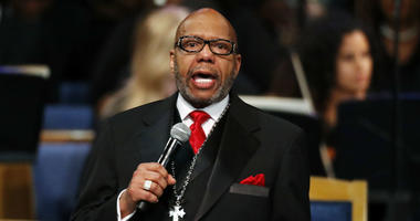 In this Aug. 31, 2018, file photo, the Rev. Jasper Williams, Jr., delivers the eulogy during the funeral service for Aretha Franklin at Greater Grace Temple, in Detroit.