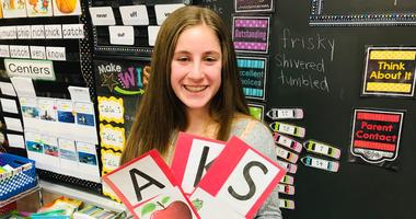 Jordan Grabelle, 14, has spent half of her life promoting literacy.
