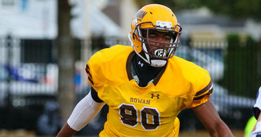 Senior defensive end Kevin Stokes led Rowan University last season with 18 1/2 tackles for loss and 6 1/2 sacks.