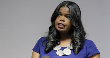 Cook County State's Attorney Kim Foxx speaks at a news conference, in Chicago.