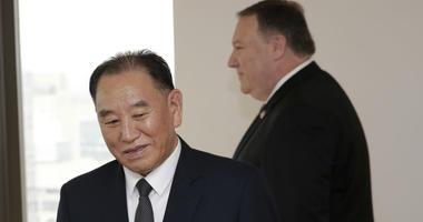 Kim Yong Chol and Mike Pompeo