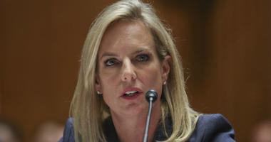 In this Tuesday, May 8, 2018 file photo, Homeland Security Secretary Kirstjen Nielsen testifies before Senate Appropriations subcommittee hearing on Capitol Hill in Washington.