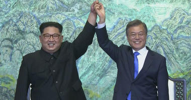 Kim Jong Un and Moon Jae-in