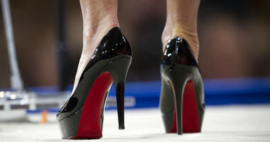 former Alaska Gov. Sarah Palin wears Christian Louboutin shoes