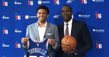 Sixers introduce Matisse Thybulle at team HQ.