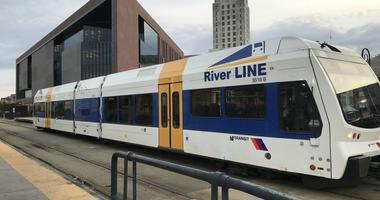 New Jersey Transit River Line at Walter Rand Transportation Center in Camden