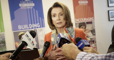 House Minority Leader Nancy Pelosi speaks to reporters after a news conference at the Tenderloin Neighborhood Development Corporation's Sala Burton Manor in San Francisco, Tuesday, Aug. 21, 2018.