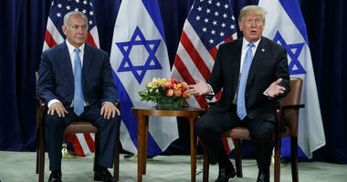 President Donald Trump speaks during a meeting with Israeli Prime Minister Benjamin Netanyahu at the United Nations General Assembly, Wednesday, Sept. 26, 2018, at U.N. Headquarters.