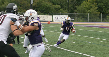 Ben Franklin High School product Rasheem James leads West Chester with 13 receptions this season.