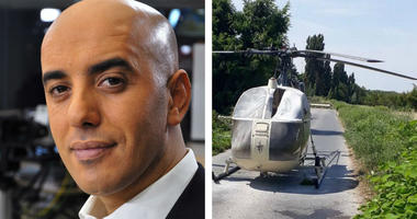 Redoine Faid and the helicopter he escaped in