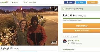 Last October, Johnny Bobbitt used his last $20 to buy gas for Kate McClure, who was stranded on I-95. McClure, in return, created a GoFundMe campaign with her boyfriend, Mark D'Amico, to raise money for Bobbitt to thank him.