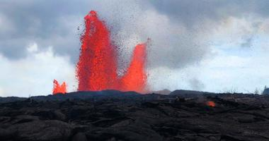 "Nearly a dozen people are stranded in an area cut off by lava following ""vigorous eruptions"" from the Kilauea volcano."