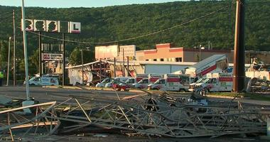 The storm shredded homes, torn through several businesses and knocked down power lines and trees in Wilkes-Barre Township, Pennsylvania, the Luzerne County Emergency Management said.