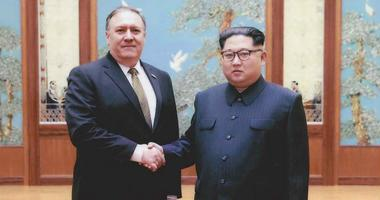 Mike Pompeo with Kim Jong Un in Pyongyang