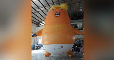Trump baby balloon