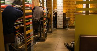 """McRefugees"" sleep in Hong Kong McDonald's"