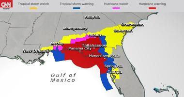 Hurricane Michael Map
