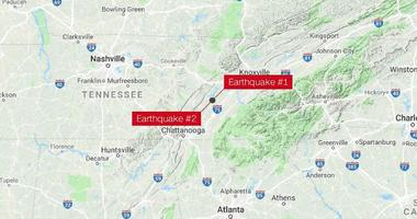 Two earthquakes shake eastern Tennessee