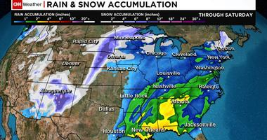 Millions could face blizzard conditions or flooding by this weekend