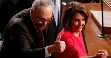 House Speaker Nancy Pelosi and Senate Minority Leader Chuck Schumer will give the Democrats' response Tuesday night following President Donald Trump's speech making the case for money for a border wall to be included in any plan to reopen the government