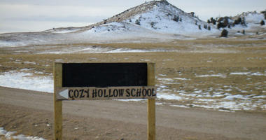 The nearest school to one Wyoming kindergartner is more than an hour drive's away. In harsh winter months in the rural area north of Laramie, that trek can be too difficult to cross and infeasible to pass.