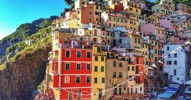 Cinque Terre is a series of colorful fishing villages on the Italian Riviera.