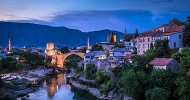 Mostar is home to the famous Stari Most bridge.