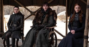 Game of Thrones characters Arya, Brandon and Sansa Stark