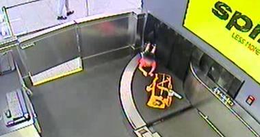 Child Stuck In Baggage Belt
