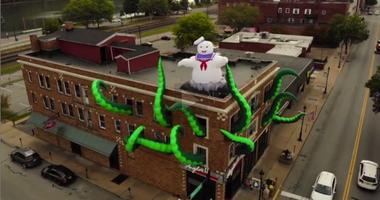 Angelo's II in Monongahela is decked out in a Ghostbusters theme.