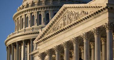 Capitol in Washington at sunrise