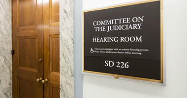 The Senate Judiciary Committee hearing room is seen on Capitol Hill in Washington, Friday, Sept. 21, 2018.