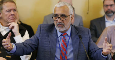In this Feb. 21, 2019, file photo, Salt Lake County District Attorney Sim Gill speaks to the members of the Senate Judiciary, Law Enforcement and Criminal Justice Standing Committee at the Utah state Capitol in Salt Lake City.