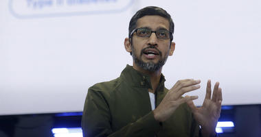 In this May 8, 2018, file photo, Google CEO Sundar Pichai speaks at the Google I/O conference in Mountain View, Calif.
