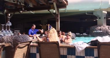 Camelback Resort in the Poconos offers a swim-up bar to its guests.
