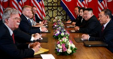 President Donald Trump speaks during a meeting with North Korean leader Kim Jong Un Thursday, Feb. 28, 2019, in Hanoi.