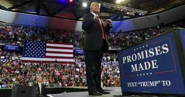 President Donald Trump speaks at a rally at AMSOIL Arena in Duluth, Minn., Wednesday, June 20, 2018.