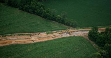 Jul 5, 2017; South Lebanon Township, PA, USA; Construction for the Sunoco Mariner East pipeline continues in South Lebanon Township.