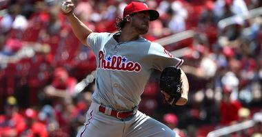 Philadelphia Phillies starting pitcher Aaron Nola
