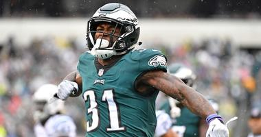 Sep 23, 2018; Philadelphia, PA, USA; Philadelphia Eagles defensive back Jalen Mills (31) reacts after making a play against the Indianapolis Colts during the first quarter at Lincoln Financial Field.